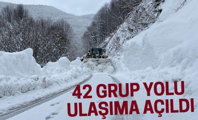 42 grup yolu ulaşıma açıldı