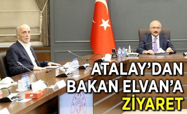 Türk-İş'ten Bakan Elvan'a ziyaret