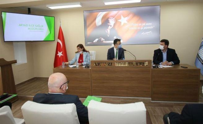 Akyazı Belediyesi'nde korona toplantısı