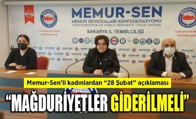 """Memur-Sen'li kadınlardan """"28 Şubat"""" açıklaması"""