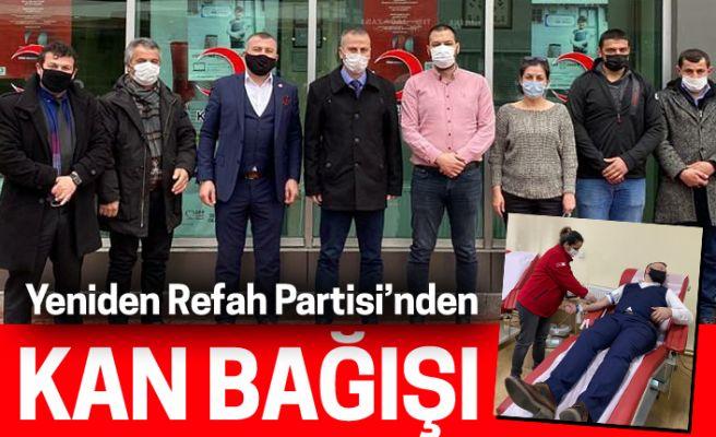 Yeniden Refah Partisi'nden kan bağışı