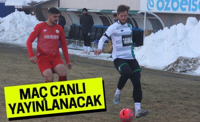 Sivas BLD.-Sakaryaspor maçı canlı yayınlanacak