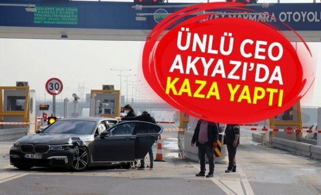Ünlü CEO Akyazı'da kaza yaptı!