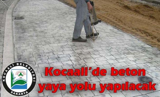 Kocaali'de beton yaya yolu yapılacak