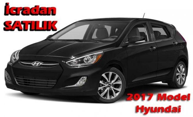 İcradan satılık 2017 model Hyundai marka otomobil