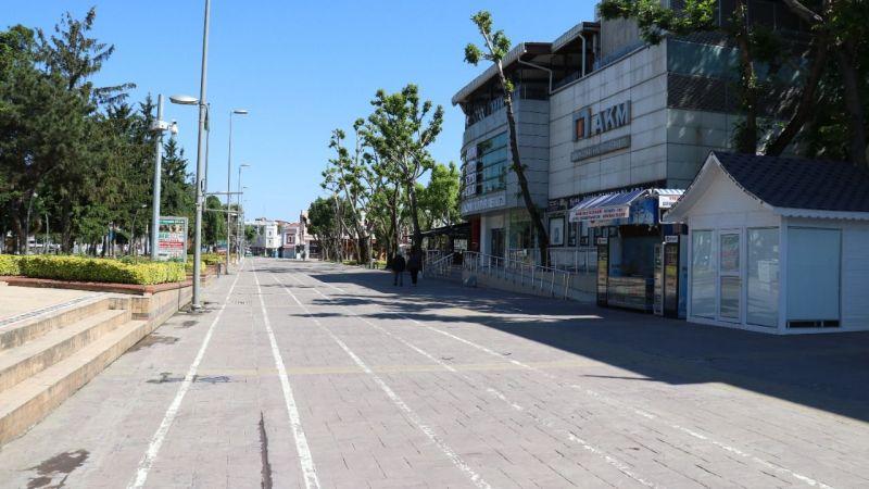 Şehir merkezinde kısıtlama sessizliği...