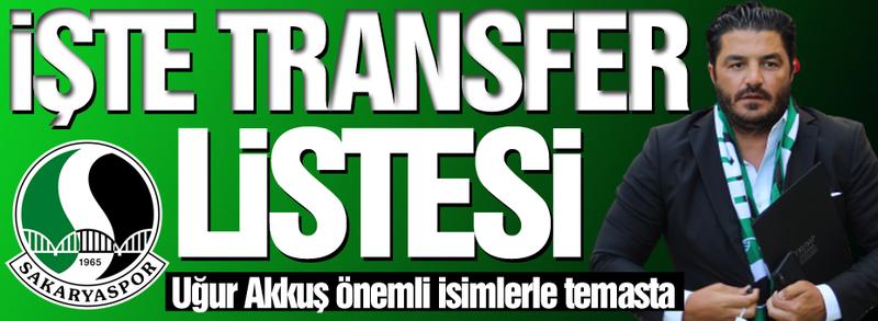 Transfer listesi hazır