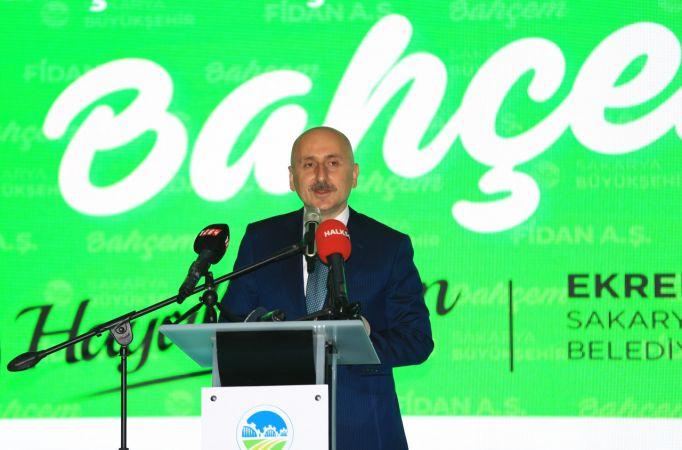 """Bakan Karaismailoğlu, Sakarya'da """"Bahçem"""" in açılışını yaptı"""