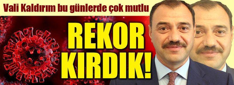 """Vali Kaldırım çok mutlu: """"Rekor kırdık"""""""