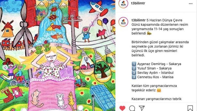 T3 Vakfı Resim Yarışmasında Türkiye 1.si ve 2.si oldular