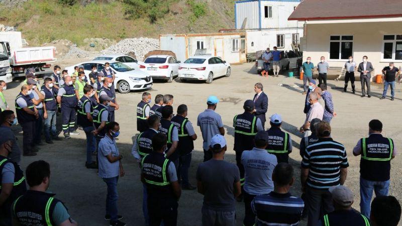 Serdivan'da asfalt sezonu dualarla açıldı