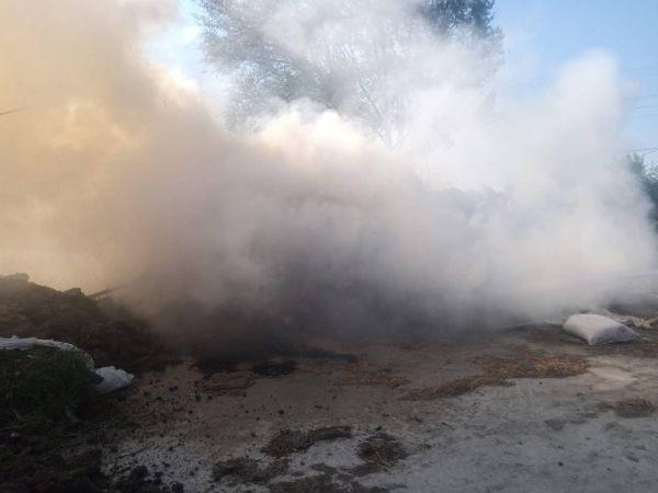 Yangında 700 saman balyası kül oldu