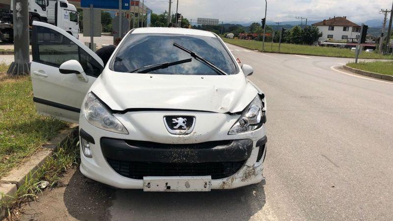 Akyazı'da korkutan kaza!