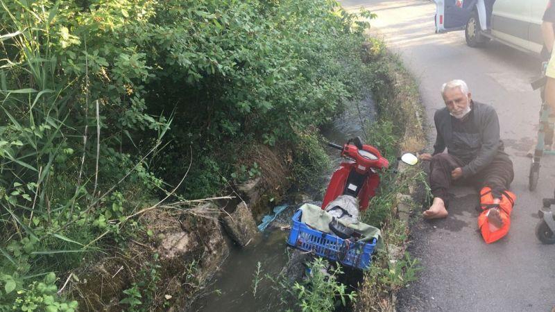 Motosikletle su kanalına uçtu: 1 yaralı