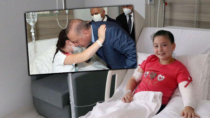 Küçük Elanur'un Cumhurbaşkanı sevinci