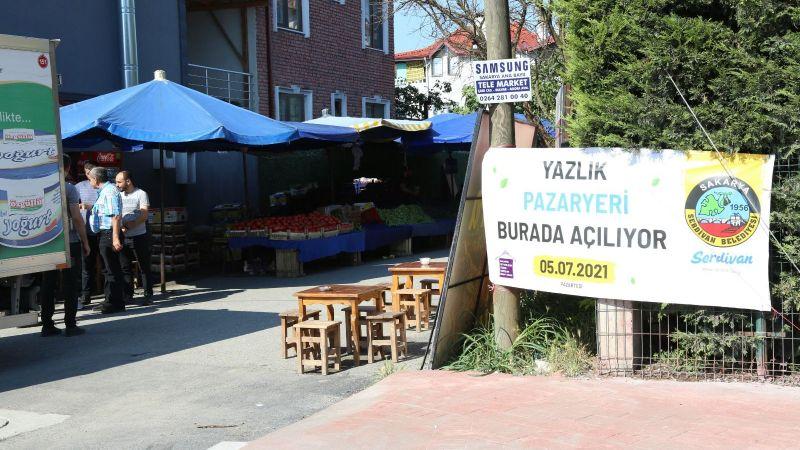 Serdivan'ın yeni semt pazarı hizmete başladı