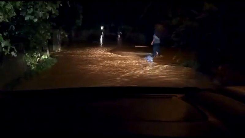 Dereler taştı, evleri su bastı
