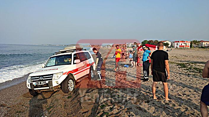 Karasu'da denize girmek yasaklandı!