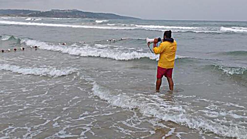 Denize girmek yasaklandı!