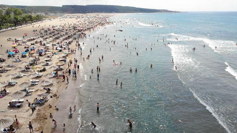 O plajlarda denize girme yasağı kaldırıldı