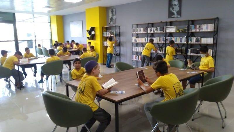 Yeni stadyumda kütüphane açıldı