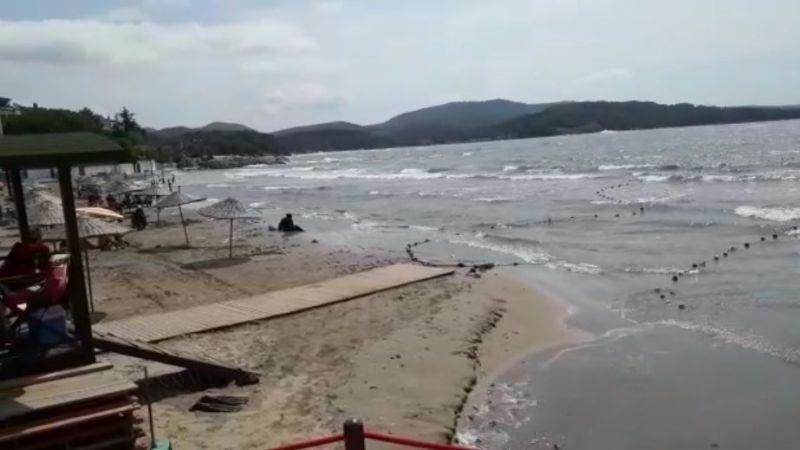 Komşuda denize girmek yasaklandı!