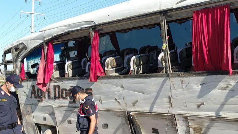 Bir otobüs kazası daha: Çok sayıda yaralı!