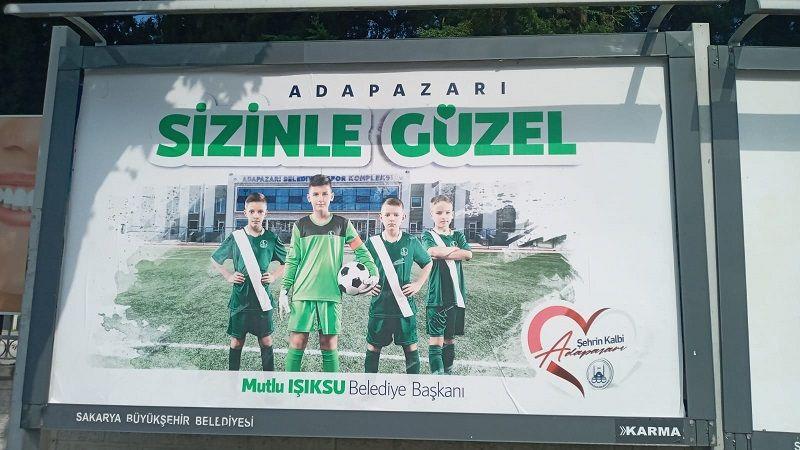 Adapazarı Belediyesi'nden tepki çeken Sakaryaspor görseli!