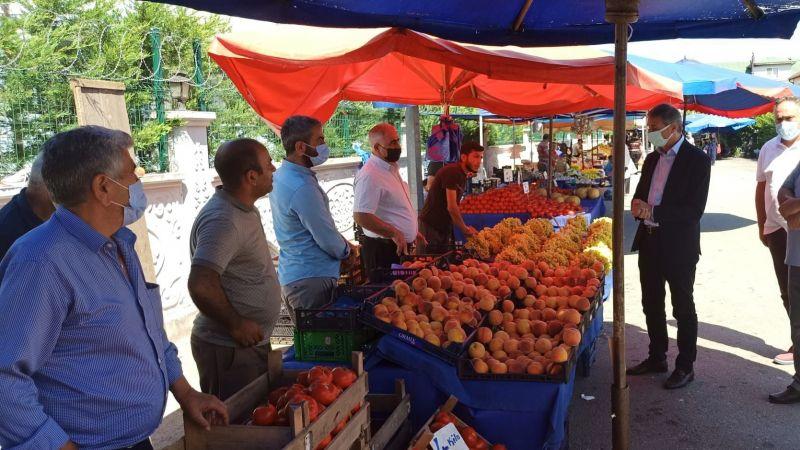 Alemdar'dan yeni pazar yerine ziyaret