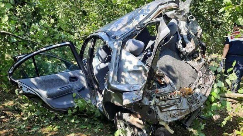 Karasu'da feci kaza: 1 ölü, 1 yaralı