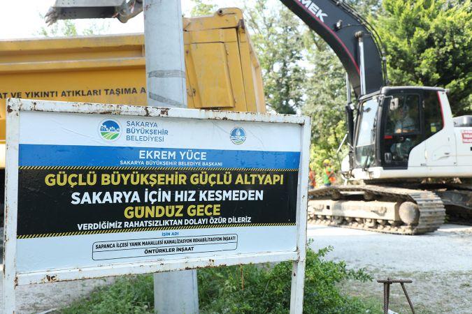 Yanık Mahallesi'ne 4 bin 850 metrelik kanalizasyon hattı