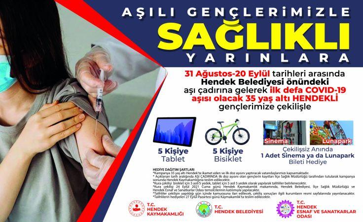 Hendek'te hediyeli aşı kampanyası!