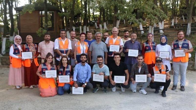 AFAD gönüllülerine teşekkür belgesi
