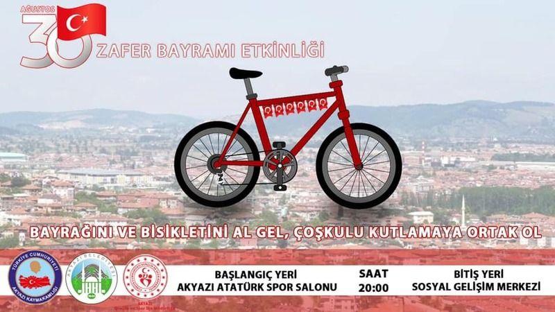 Bugün Akyazı'da bisiklet turu var...