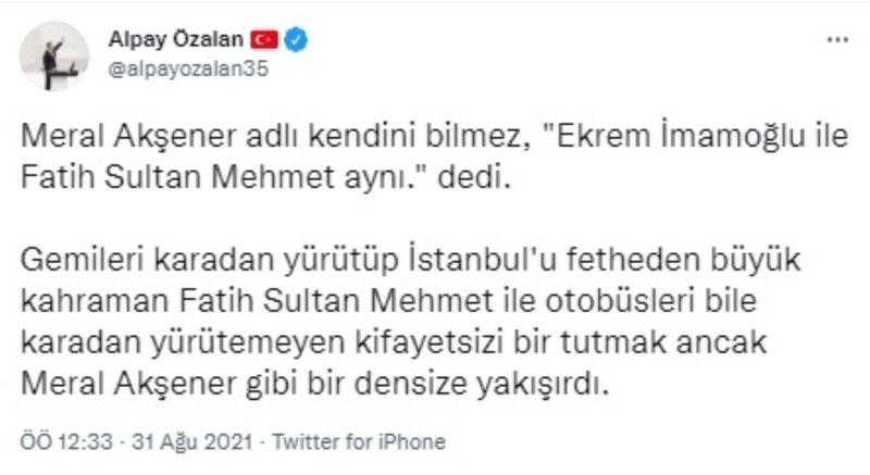 Vekil Dikbayır'dan, Özalan'a Neyzen Tevfik şiiriyle yanıt