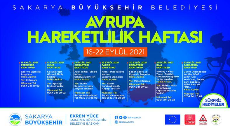 Avrupa Hareketlilik Haftası bir dizi etkinlikle geçecek