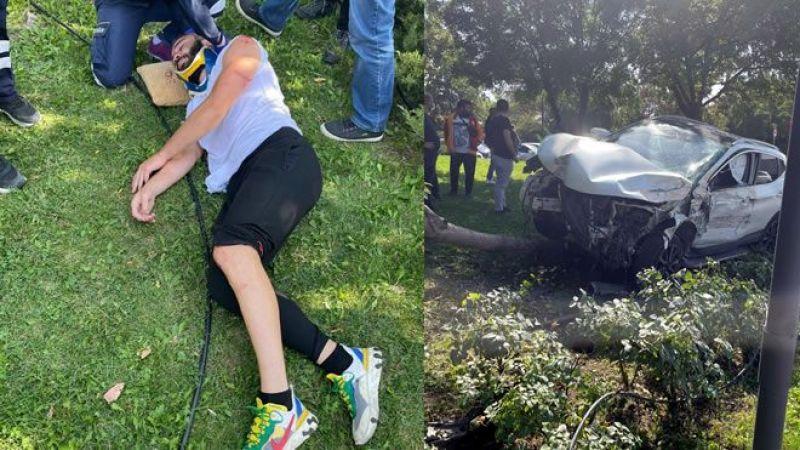 Sakaryasporlu futbolcu kaza yaptı!
