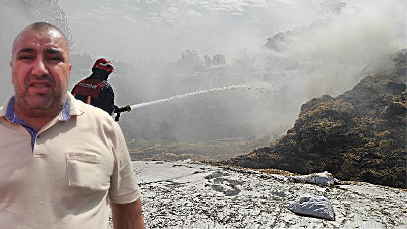 133 ton saman cayır cayır yandı!