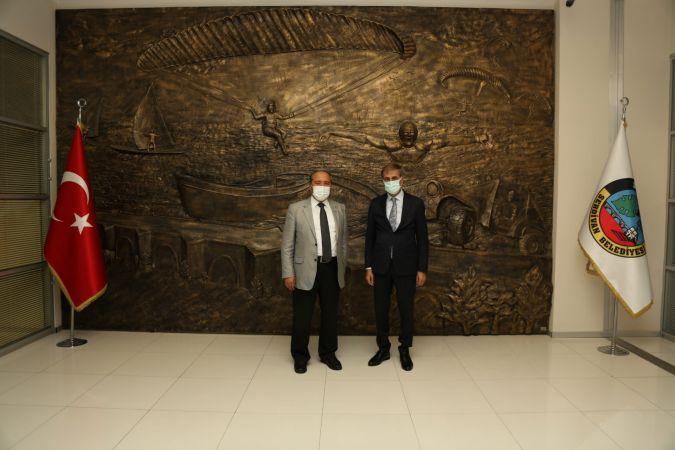 Kaymakam Candan'dan, Başkan Alemdar'a ziyaret