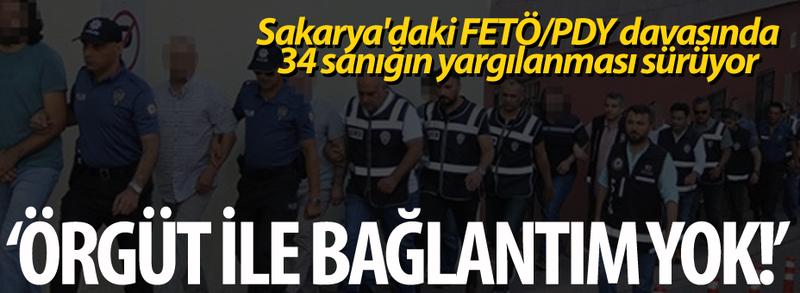 Sakarya'daki FETÖ/PDY davasında 34 sanığın yargılanması sürüyor