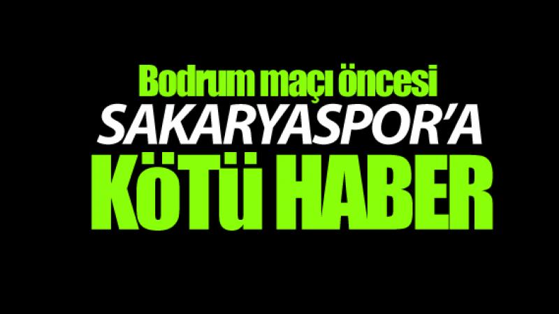 Sakaryaspor'a kötü haber!