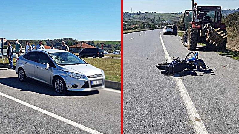 Duble yolda feci kaza: 1 ağır yaralı!