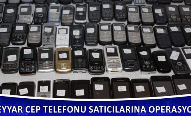 Seyyar Cep Telefonu Satıcılarına Operasyon