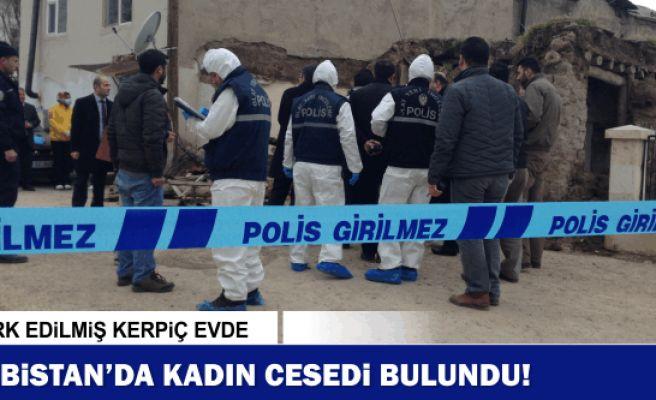 Elbistan'da terk edilmiş evde kadın cesedi bulundu