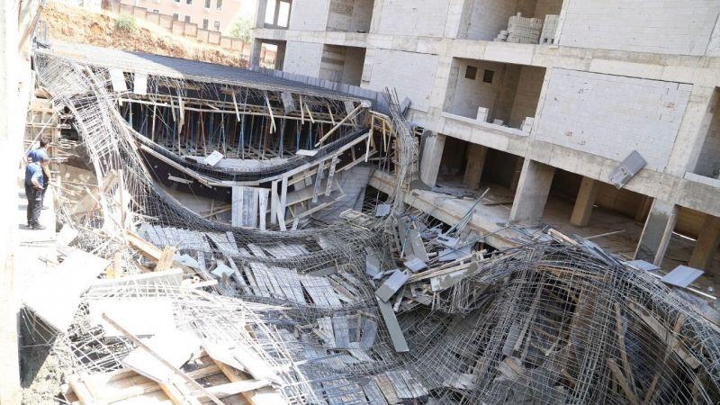 Beton dökerken inşaat göçtü: 3 yaralı
