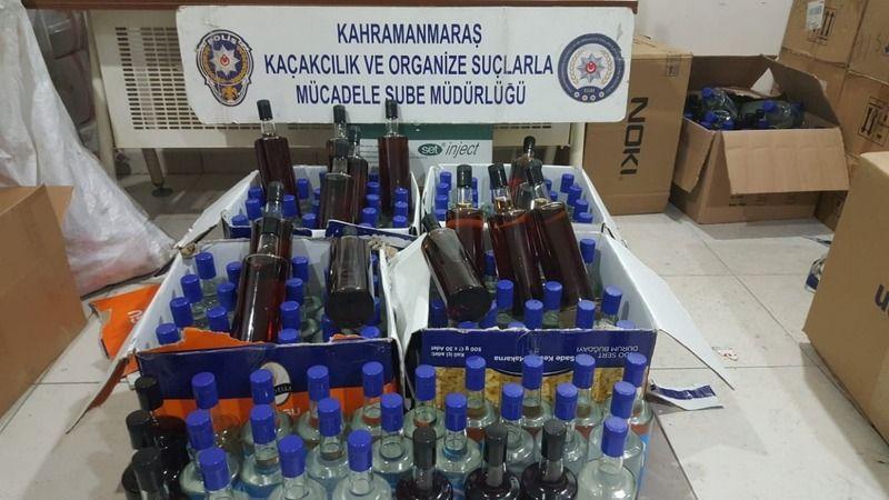 120 şişe kaçak içki ele geçirildi