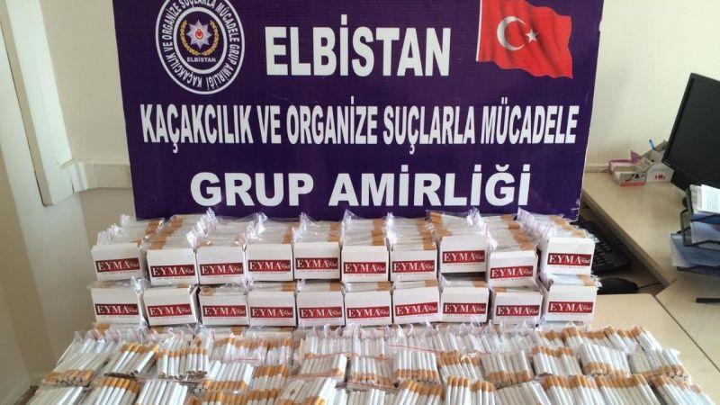 Elbistan'da kaçak sigara operasyonu