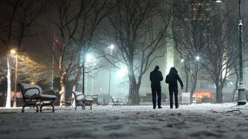 Elbistan hava durumu: Beklenen kar yağışı başladı
