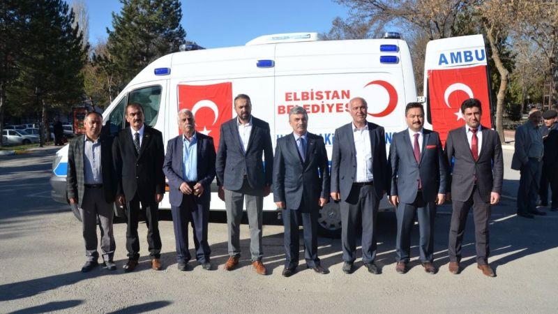TBB'den Elbistan Belediyesine Hasta Nakil Aracı Desteği