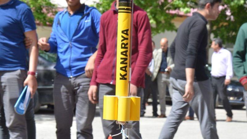Elbistanlı öğrenciler 400 metre yükselebilen roket yaptı